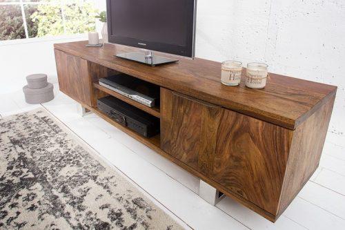 Deska do TV z litego drewna Sheesham Rosewood FIRE & EARTH