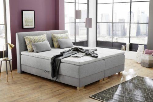 Nowoczesne łóżko z materacem sprężynowym CAPRI 180 x 200 cm