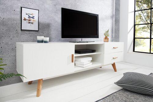 Design Lowboard SCANDINAVIA MASTERPIECE Deska TV z białego dębu o długości 150 cm
