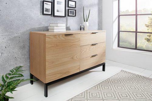 Design sideboard MODERN NATURE 110cm dąb w stylu retro