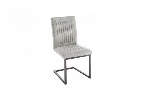 Krzesło  BRISTOL w kolorze kamienia szarego płozy