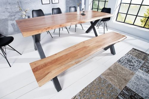 Masywna ławka MAMMUT  z  akacjowego drewna litego
