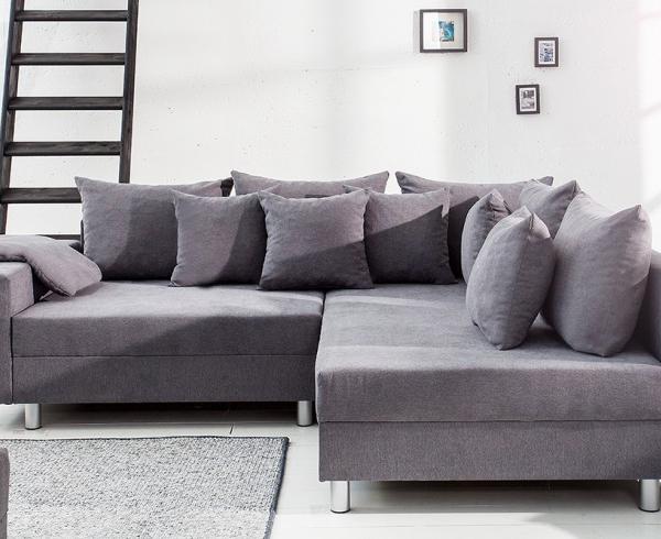 sofa naro na design loft szara wykonana z mi kkiej tkaniny. Black Bedroom Furniture Sets. Home Design Ideas