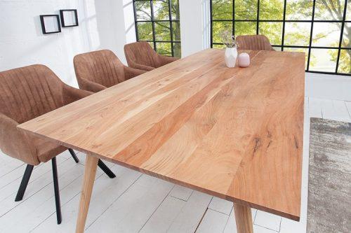 Masywny stół MYSTIC 160 cm zdrewna akacjowego