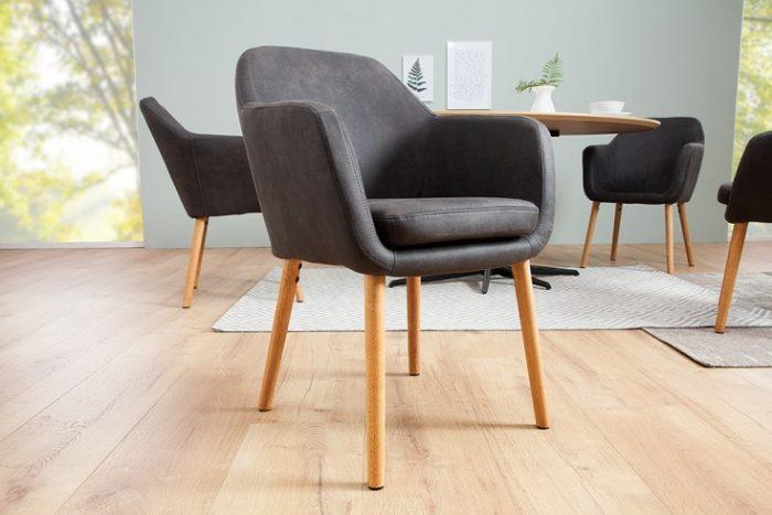 Krzesło SUPREME vintage lite drewno szare