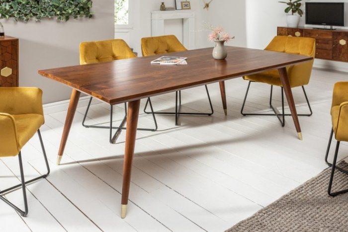 Stół MYSTIC LIVING 160cm drewno akacjowe brązowo-złote