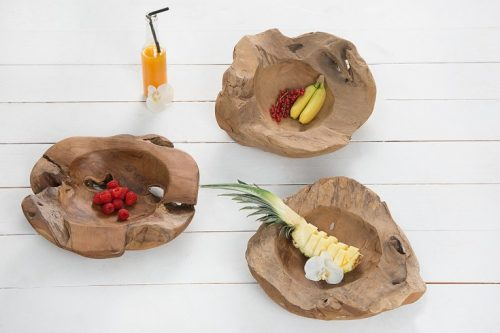 Niepowtarzalna miska z drewna tekowego 40cm