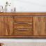Komoda MAKASSAR 175 z litego drewna w stylu Rustykalnym