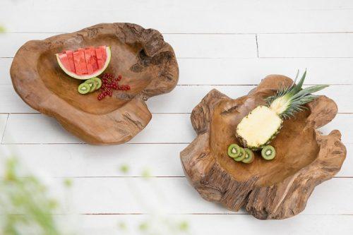 Drewniana misa muszla z drewna tekowego 60 cm