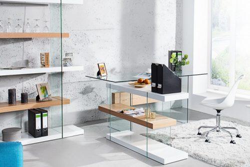 Szklane biurko ONYX  160 cm
