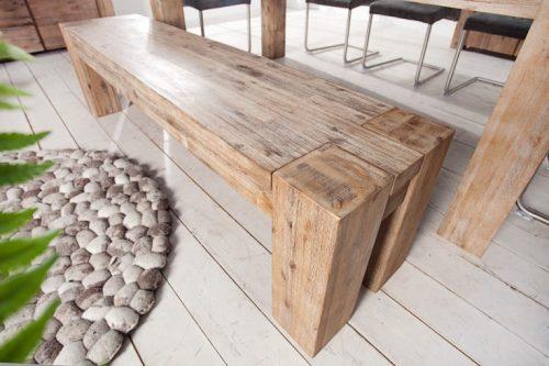 Masywna ława GIANT z drewna akacjowego