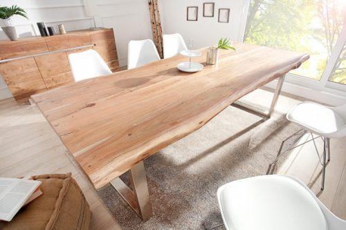 Industrialny stół MAMMUT 240cm z litego drewna akacjowego