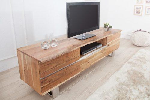 Komoda pod TV Mammut 160 z drewna akacjowego