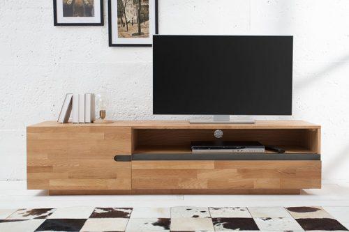 Masywna szafka telewizyjna WOTAN 170cm z litego drewna dębowego