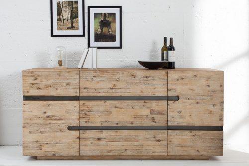 Solidny kredens WOTAN 170cm z drewna akacjowego