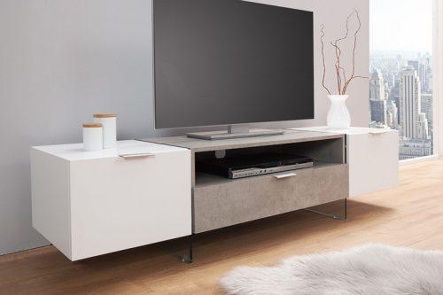 Komoda pod TV ONYX , biały matt 160 cm