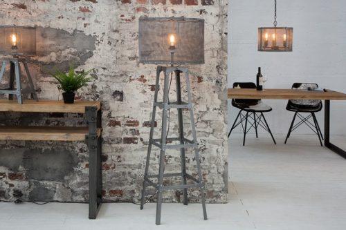 Niezwykła metalowa lampa podłogowa LOFT 155cm w stylu industrialnym
