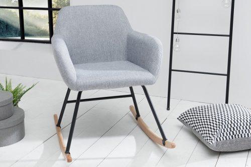 Skandynawski Fotel na płozach BALTIC jasnoszary