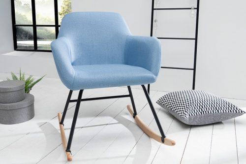 Skandynawski Fotel na płozach BALTIC jasnoniebieski