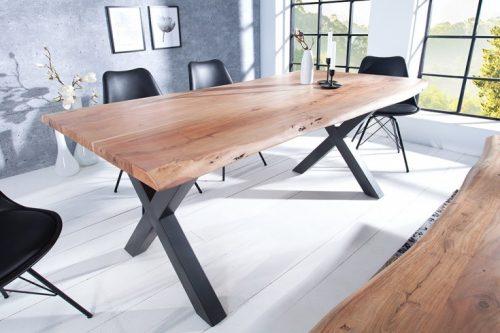 Masywny stół MAMMUT 160cm z litego drewna akacjowego