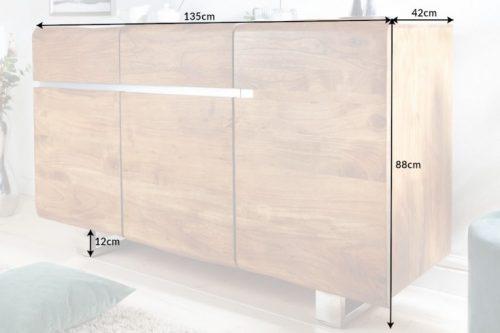 nowoczesna komoda  z litego drewna MAMMUT 135cm