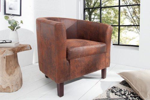 Ponadczasowy fotel Hemingway w odcieniu brązu