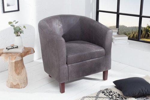 Ponadczasowy  fotel Hemingway  w odcieniu szarości