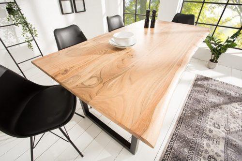 Masywny stół MAMMUT 160cm z drzewa akacjowego