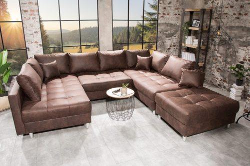 Narożna kanapa KENT w kolorze brązowym