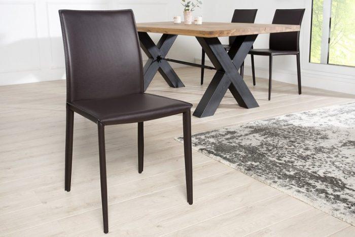 Ekskluzywne krzesło tapicerowane Milano Brown