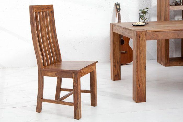 Masywne krzesło MAKASSAR wysokie oparcie