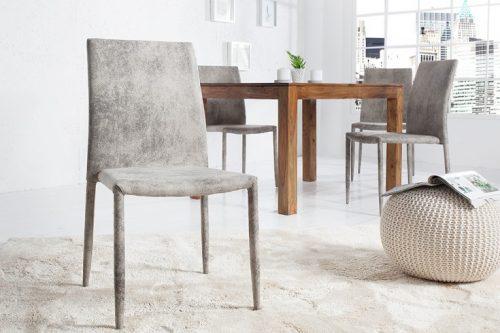 Ekskluzywne krzesło tapicerowane Milano szary