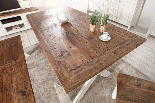 Drewniany stół BYRON 180cm w stylu vintage