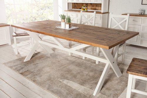 Drewniany stół BYRON 220cm w stylu vintage