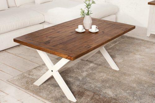 Drewniany stolik BYRON 120cm w stylu Vintage