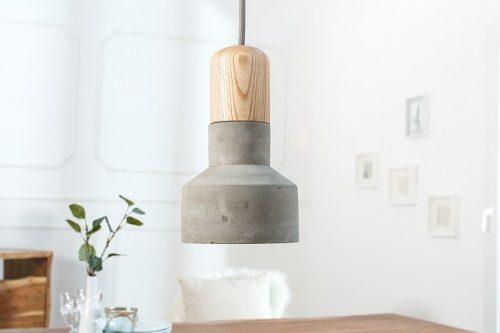 Nowoczesna lampa wisząca CEMENT FUSION szara