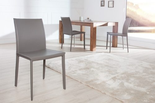 Ekskluzywne krzesło tapicerowane Milano Gray