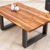 Masywny stolik z litego drewna akacjowego 110cm Genesis