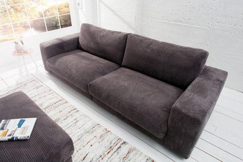 Klasyczna Sofa SEVENTIES w kolorze szarym