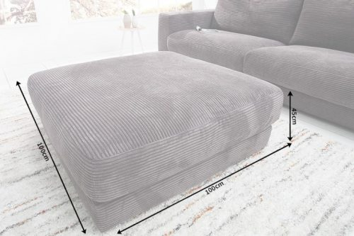 Klasyczna Pufa do sofy  Seventies  w kolorze szarym