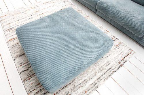 Klasyczna Pufa do sofy Seventies w kolorze jasnoniebieskim