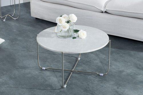 Ekskluzywny stolik NOBLE z białego marmuru