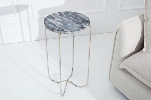Stolik NOBLE z szarego marmuru