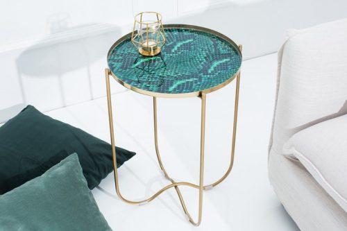 Ekskluzywny stolik NOBLE 43 cm zdejmowany blat
