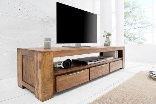 Stolik TV z drewna Sheesham Makassar 170cm