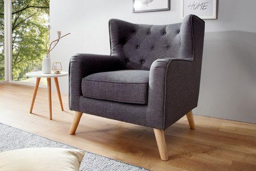 Tapicerowany fotel HYGGE w stylu skandynawskim