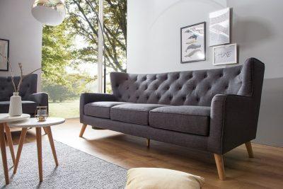 Trzyosobowa sofa HYGGE w stylu skandynawskim