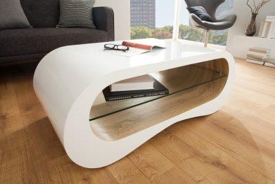 Ekskluzywny stolik kawowy MANHATTAN 110cm biały