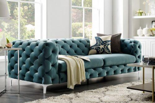 Sofa Modern Barock 240 cm aqua