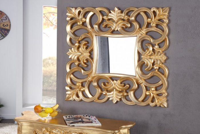 Barokowe lustro VENICE 75cm złote